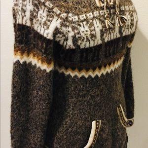 kactus Sweaters - ALPACA Wool Tribal Fringed Pullover Sweater